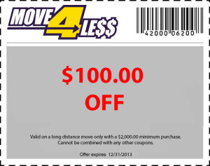 $100 off moving services coupon
