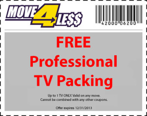free tv packing moving coupon