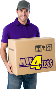 Move 4 Less mover with a box