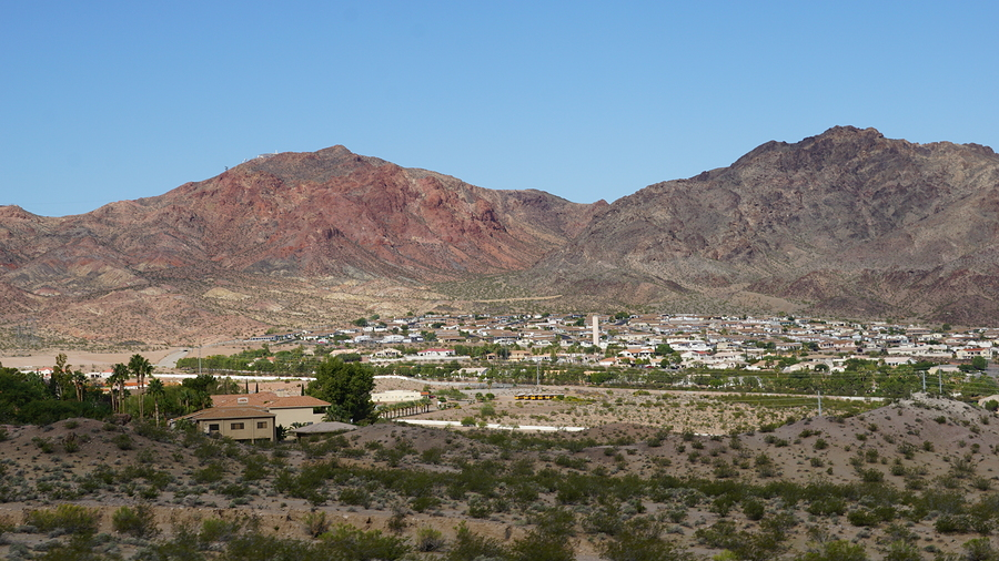 View of Boulder City in Nevada