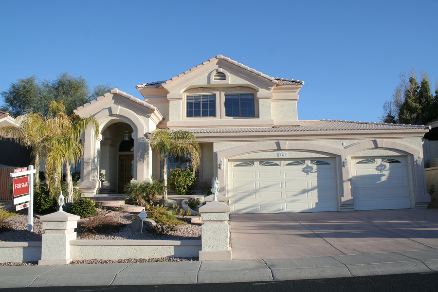 A luxury upscale home for sale in a Las Vegas suburb