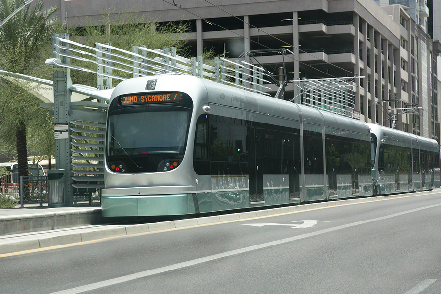City of Phoenix Downtown Light Metro Rail Tram; Arizona
