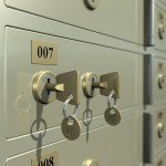 Safe deposit box for valuables during move