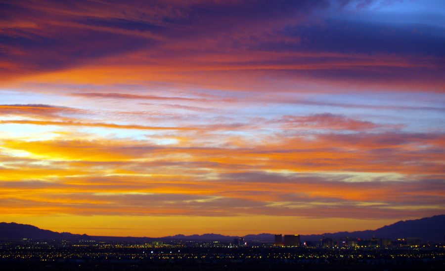 sunset over henderson nevada
