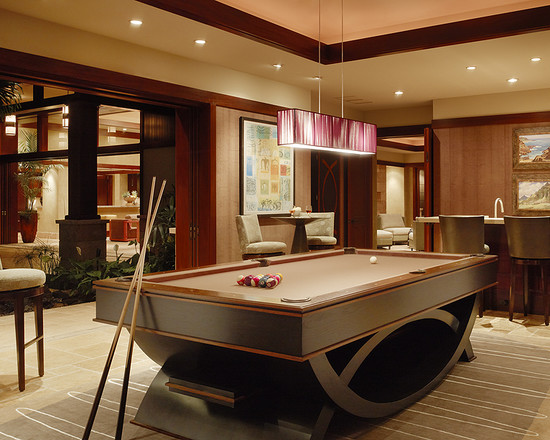 beautiful pool table and pool room
